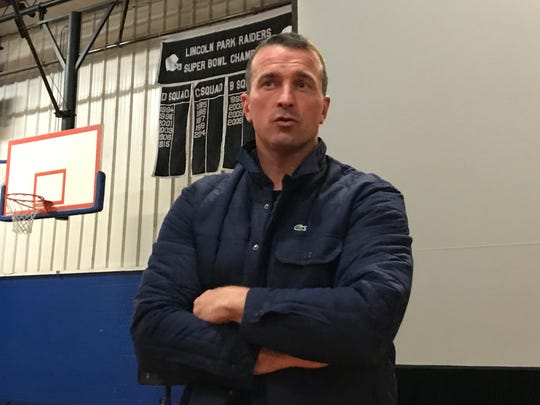 ChrisHerren, once a star basketball player whose NBA career was cut short by drug use, shared his story of addiction and recovery at the PAL Community Center in Lincoln Park.