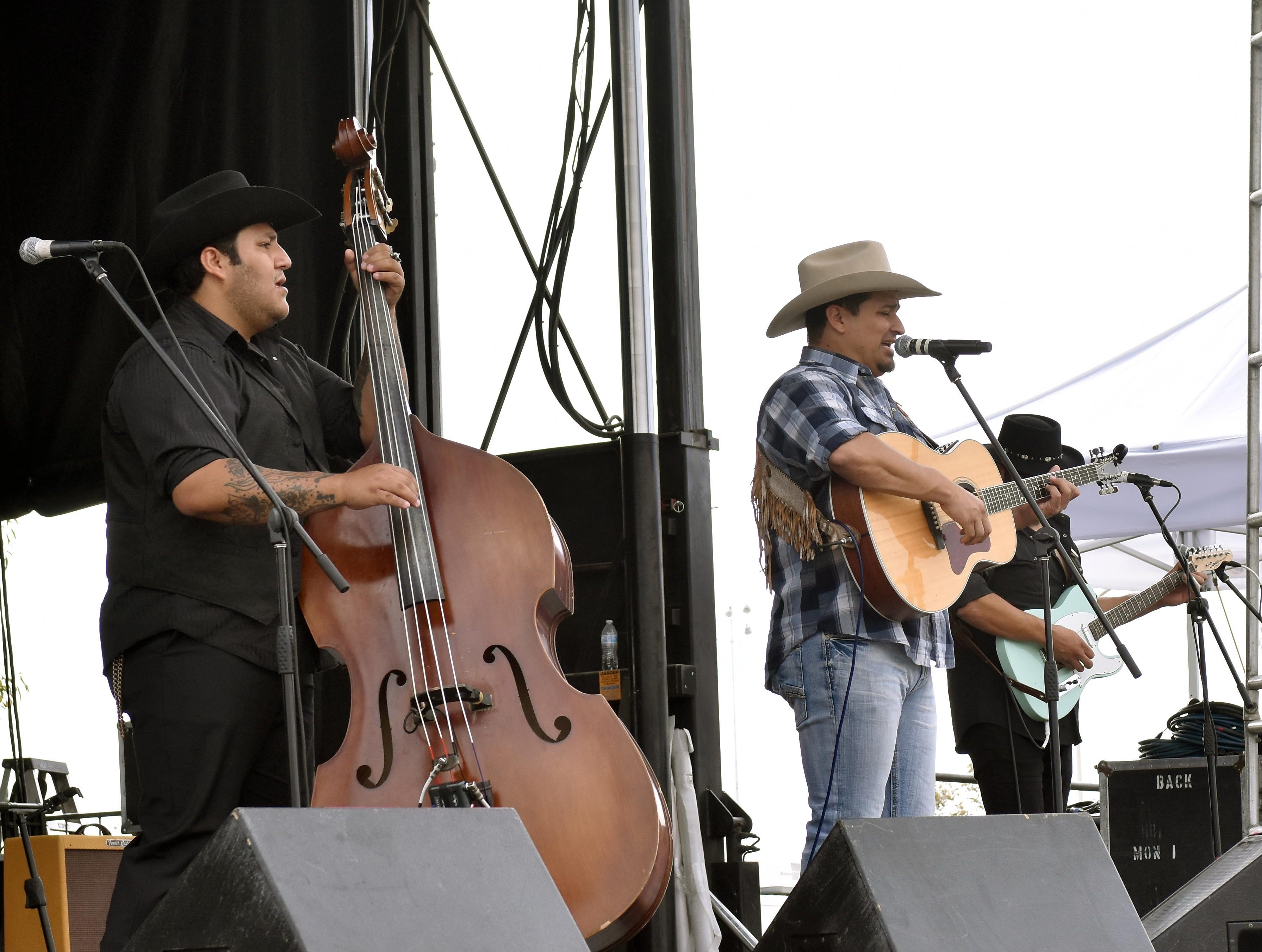 The Abe Mac Band opens up the afternoon's festivities at the Las Cruces Country Music Festival on Sunday, Oct. 21, 2018.