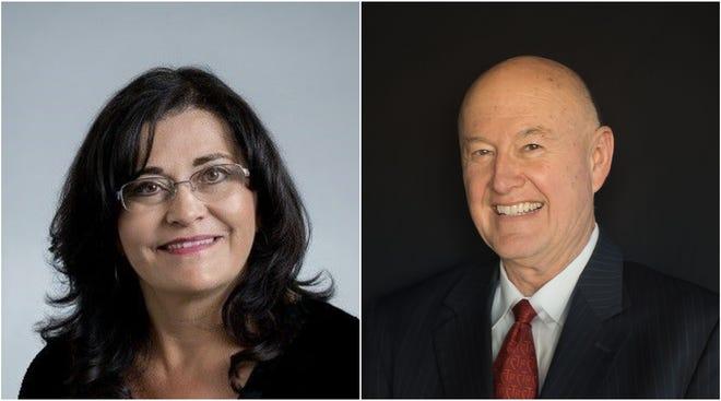 Karen Trujillo, left, and Kim Hakes