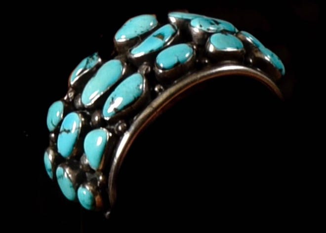 Barbara Hubbard's black bracelet with turquoise insets went missing Saturday, Oct. 20, 2018.