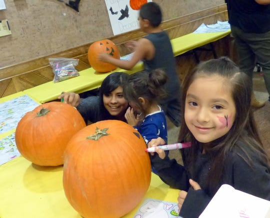 Plenty of activities kept children busy in Kinderhall operated by the Hondo Schools during Oktoberfest.