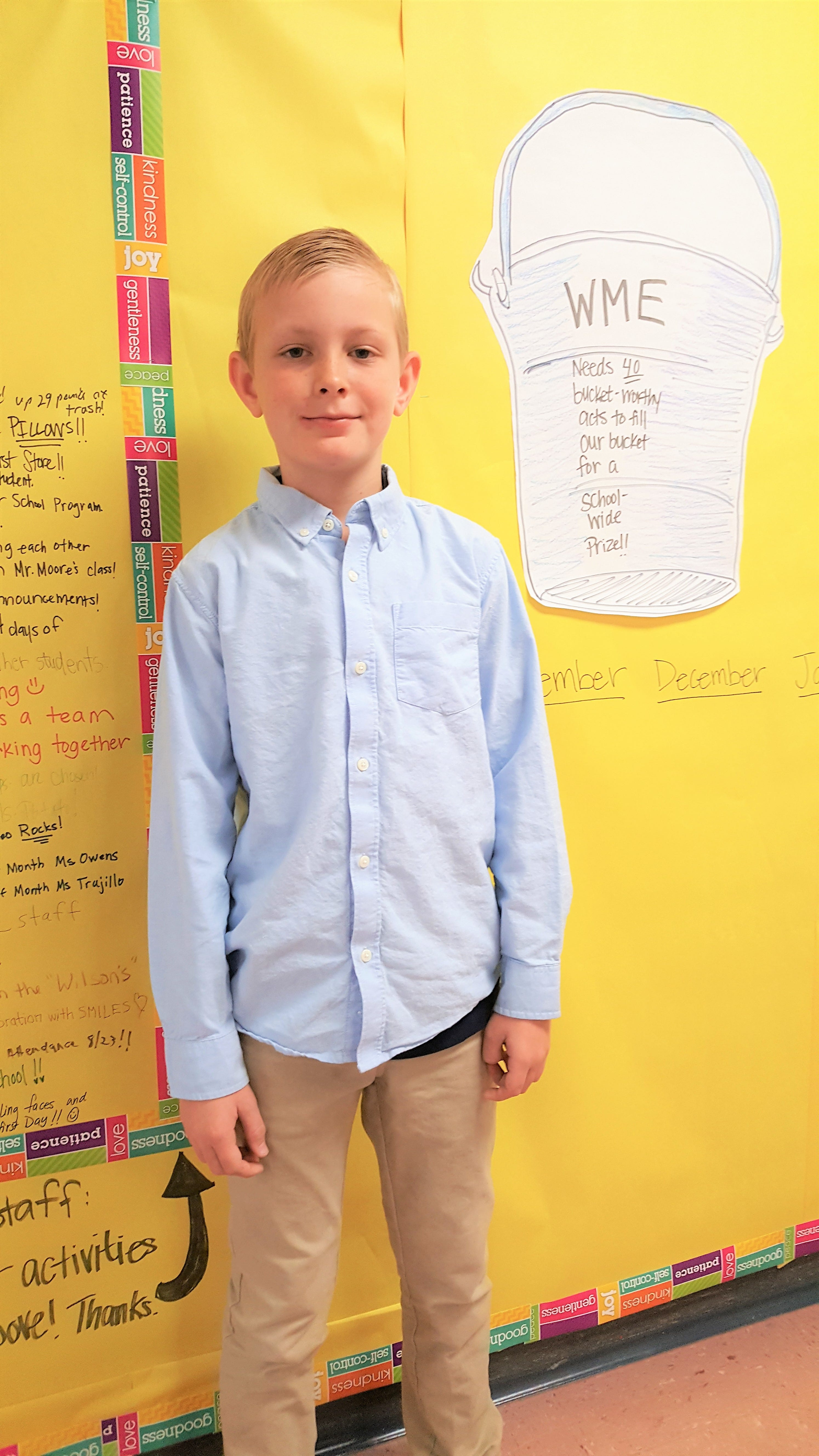 WME 4th Grader Sam McEwen In the spotlight
