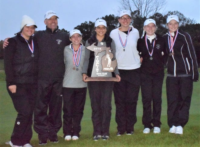 The Plymouth girls golf team, coached by Dan Young, finished runner-up in the MHSAA Division 1 final Oct. 19-20 at Bedford Valley G.C. in Battle Creek.