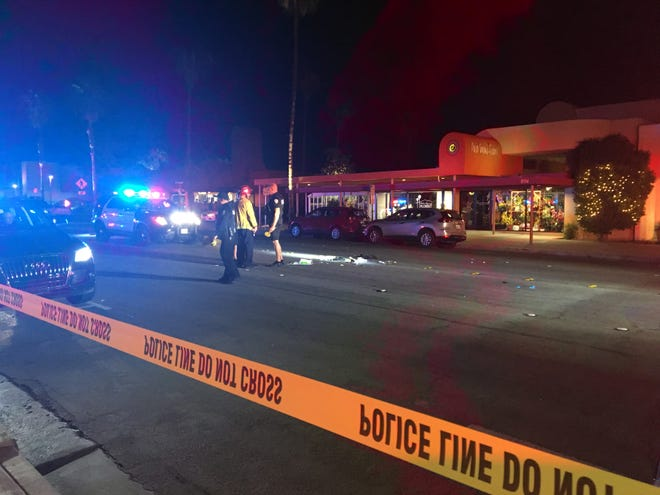 A man was injured after being struck by a car Sunday night on North Palm Canyon Drive in Palm Springs.