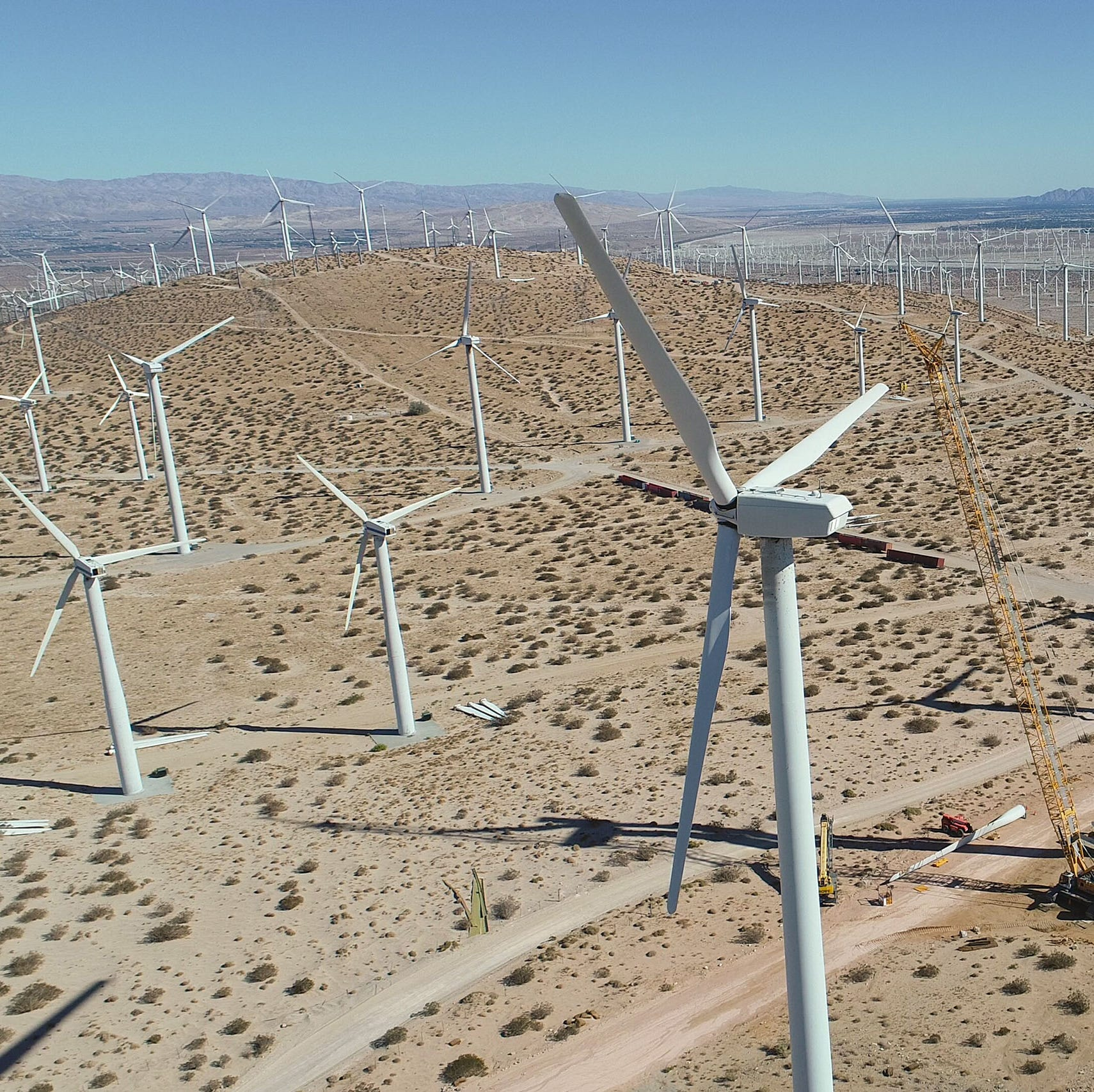 Palm Springs is famous for its wind farms. They may look a lot different in the future.