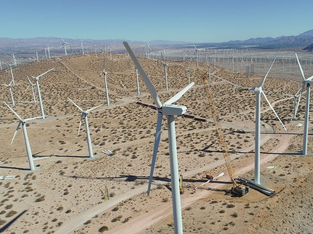 Palm Springs' iconic wind farms could change dramatically