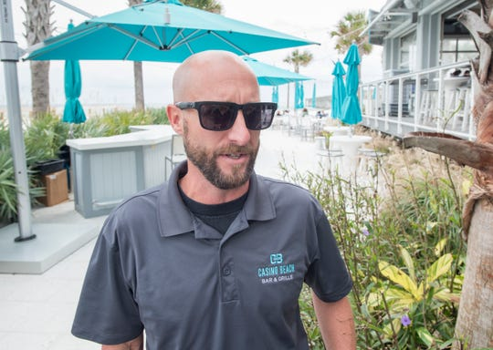 Casino Beach Bar & Grille manager Joshua Flick talks about a slight increase in business since Hurricane Michael on Monday, October 22, 2018.