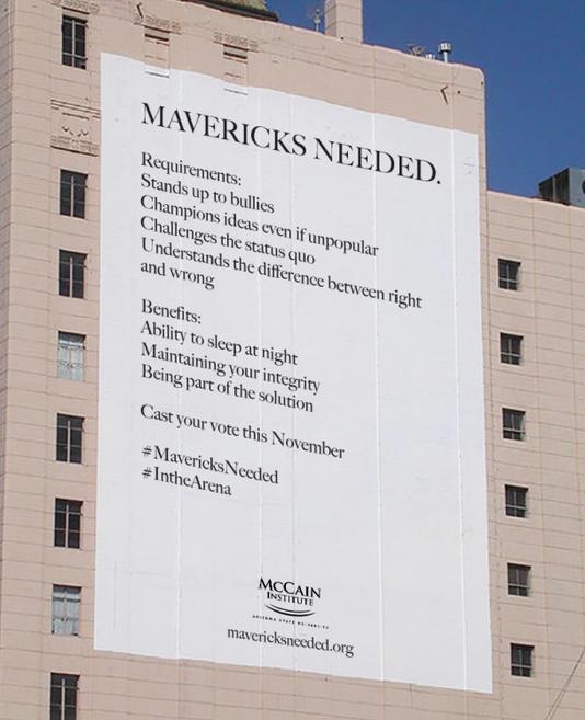 McCain mavericks banner