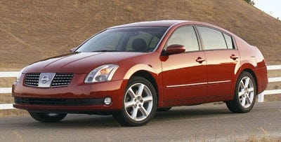 A man was left injured in a Mesa hit-and-run. The suspect's vehicle is believed to be a 2004 to 2008 Nissan Maxima, similar to the one shown here.