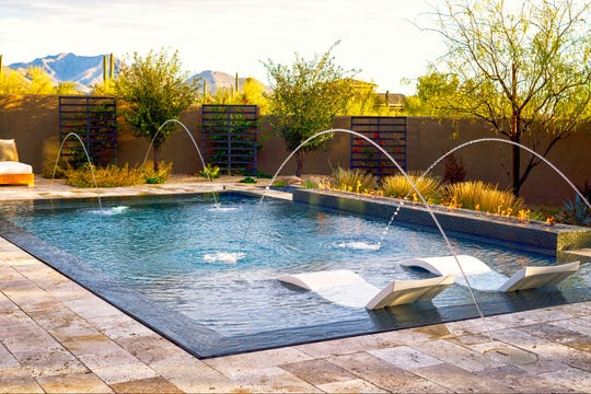 The backyard of this north Scottsdale home was designed to maximize the mountain views.