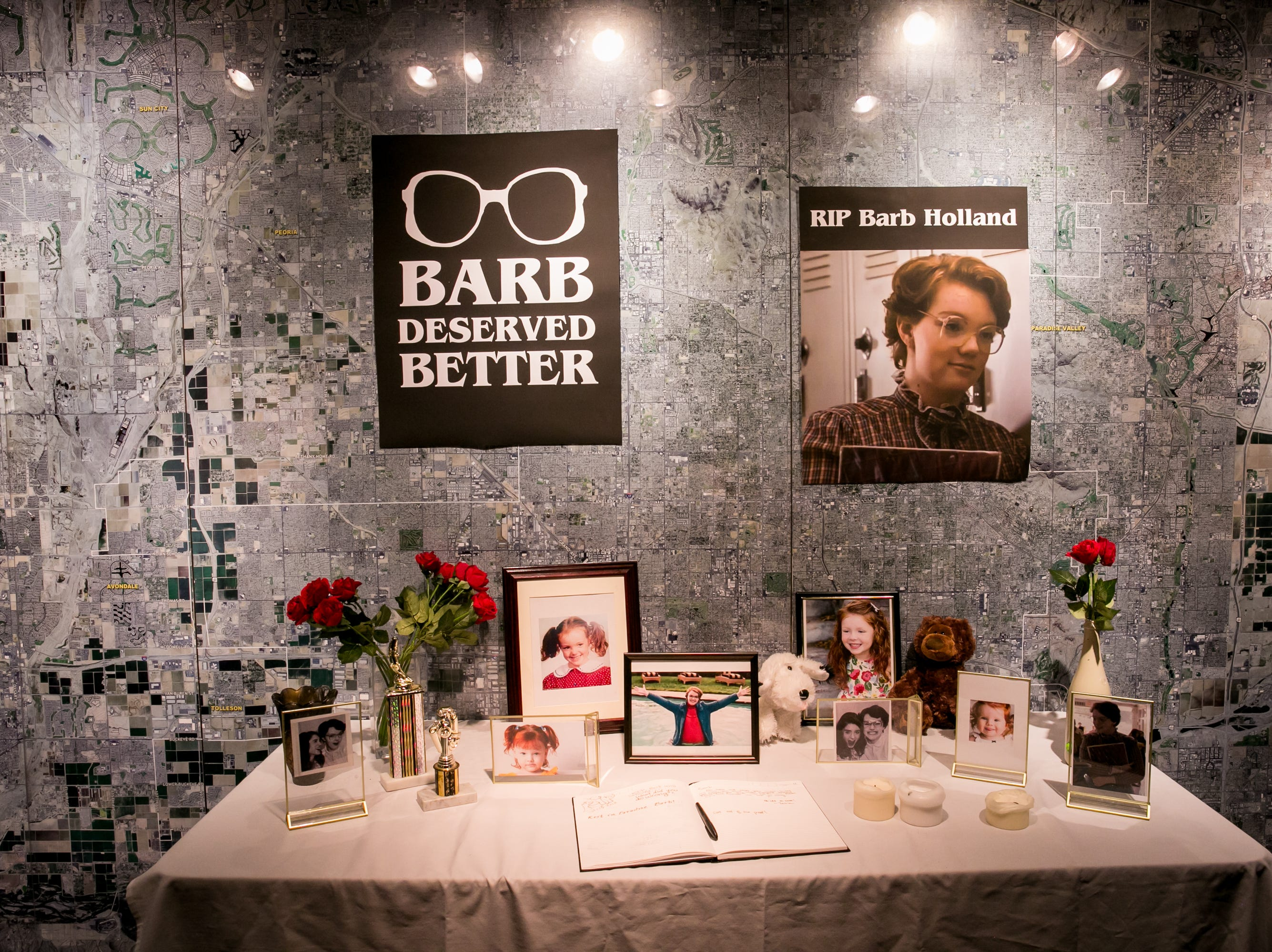 Barb was given a tasteful memorial during Science With A Twist: Stranger Things at the Arizona Science Center on Friday, October 19, 2018.