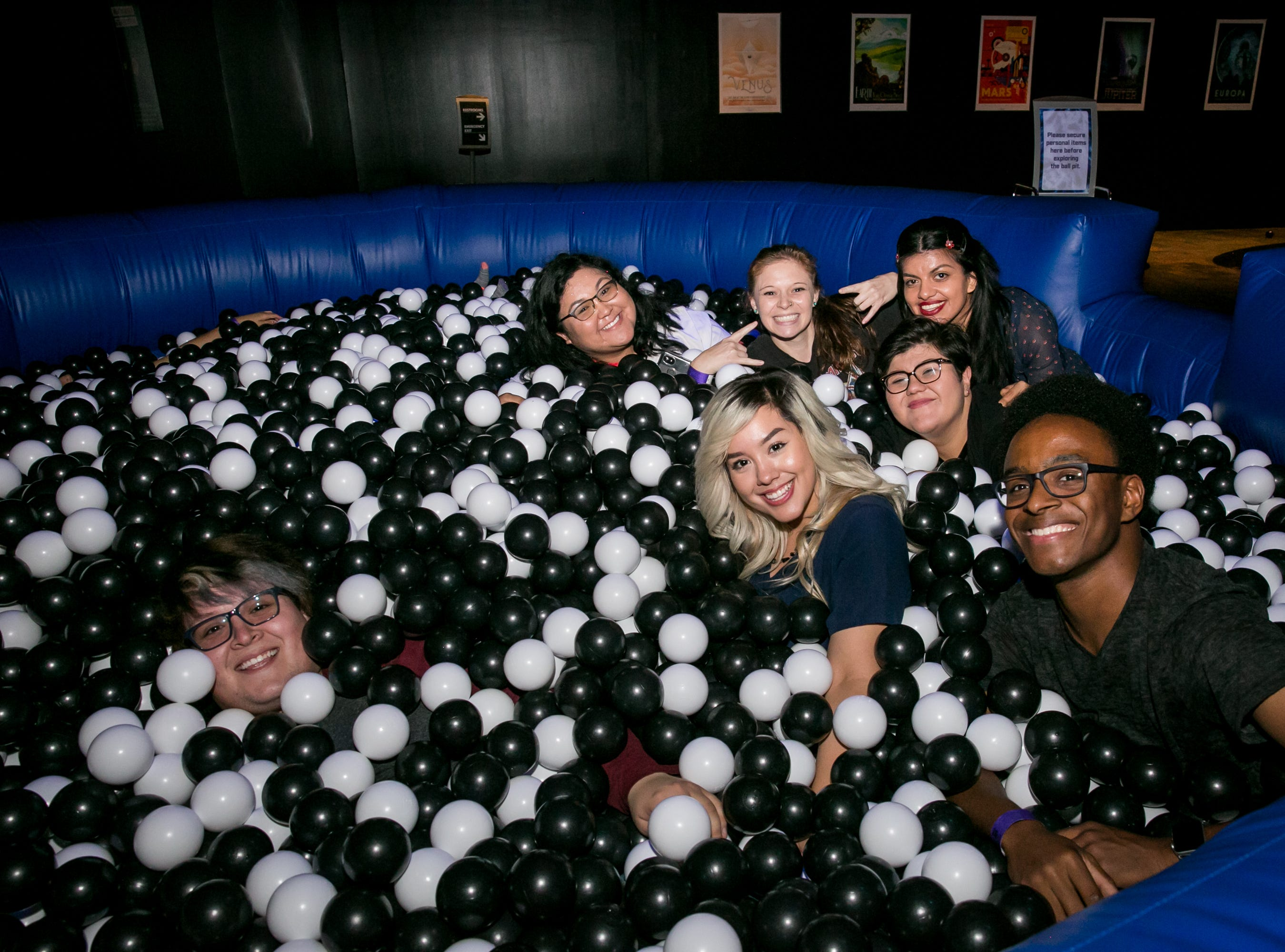 The ball pit was a great hangout spot during Science With A Twist: Stranger Things at the Arizona Science Center on Friday, October 19, 2018.