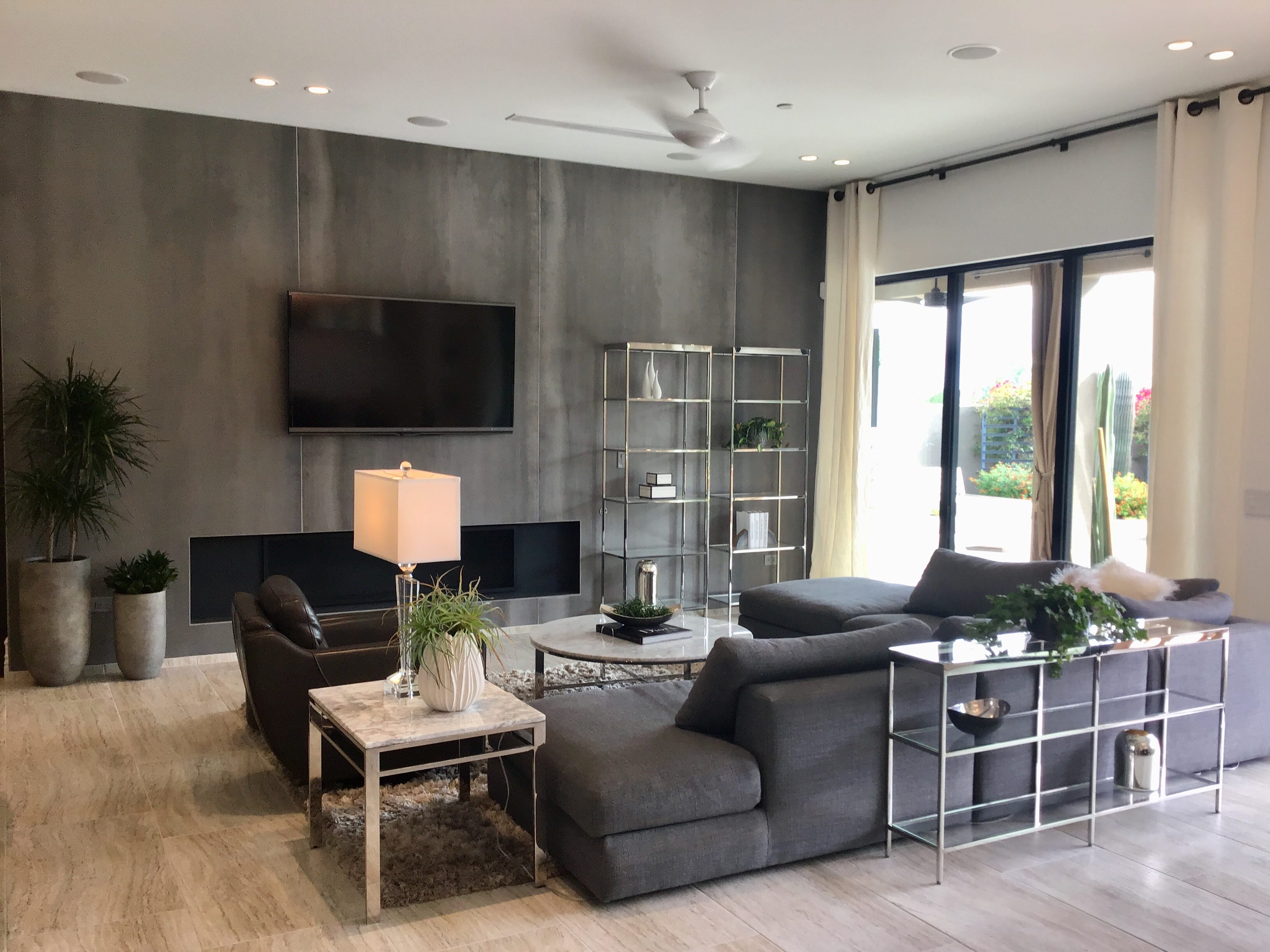 The owners searched long and hard to find the right contemporary furniture for their north Scottsdale home. They wanted it to be modern, but comfortable and inviting.