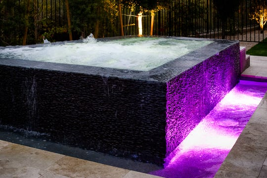The wet-edge hot tub isn't just relaxing—it's a piece of art.