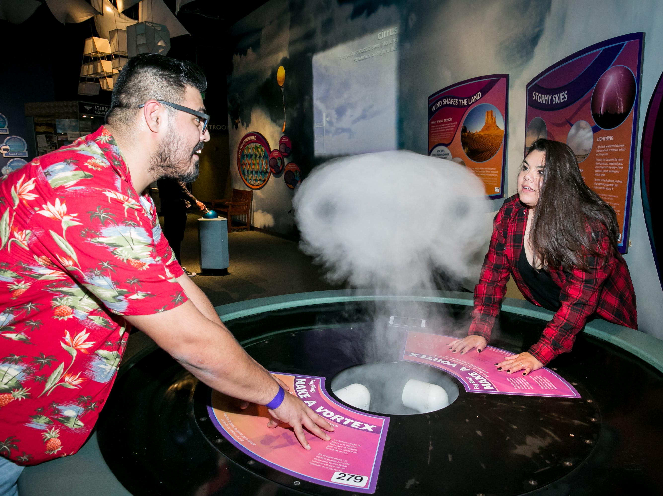 Guests had fun playing with the exhibits during Science With A Twist: Stranger Things at the Arizona Science Center on Friday, October 19, 2018.
