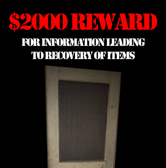 Reward offered for items stolen from downtown building
