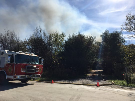 Firefighters from several departments are at the scene of a fire off Stein Road in St. Clair Township.