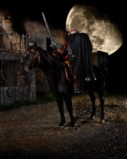 A scene from Headless Horseman Hayrides & Haunted Houses in Ulster County.