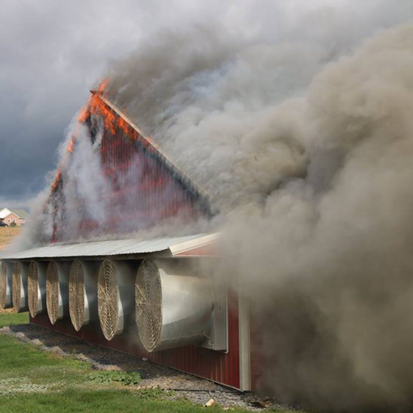 Barn fire loss estimated at $2 million