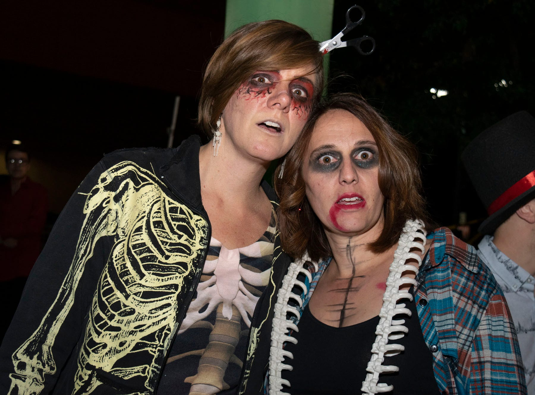 Autumn Spencer and Kesley Brown attend the Zombie Crawl on Saturday, Oct. 20, 2018. Reno, Nev.