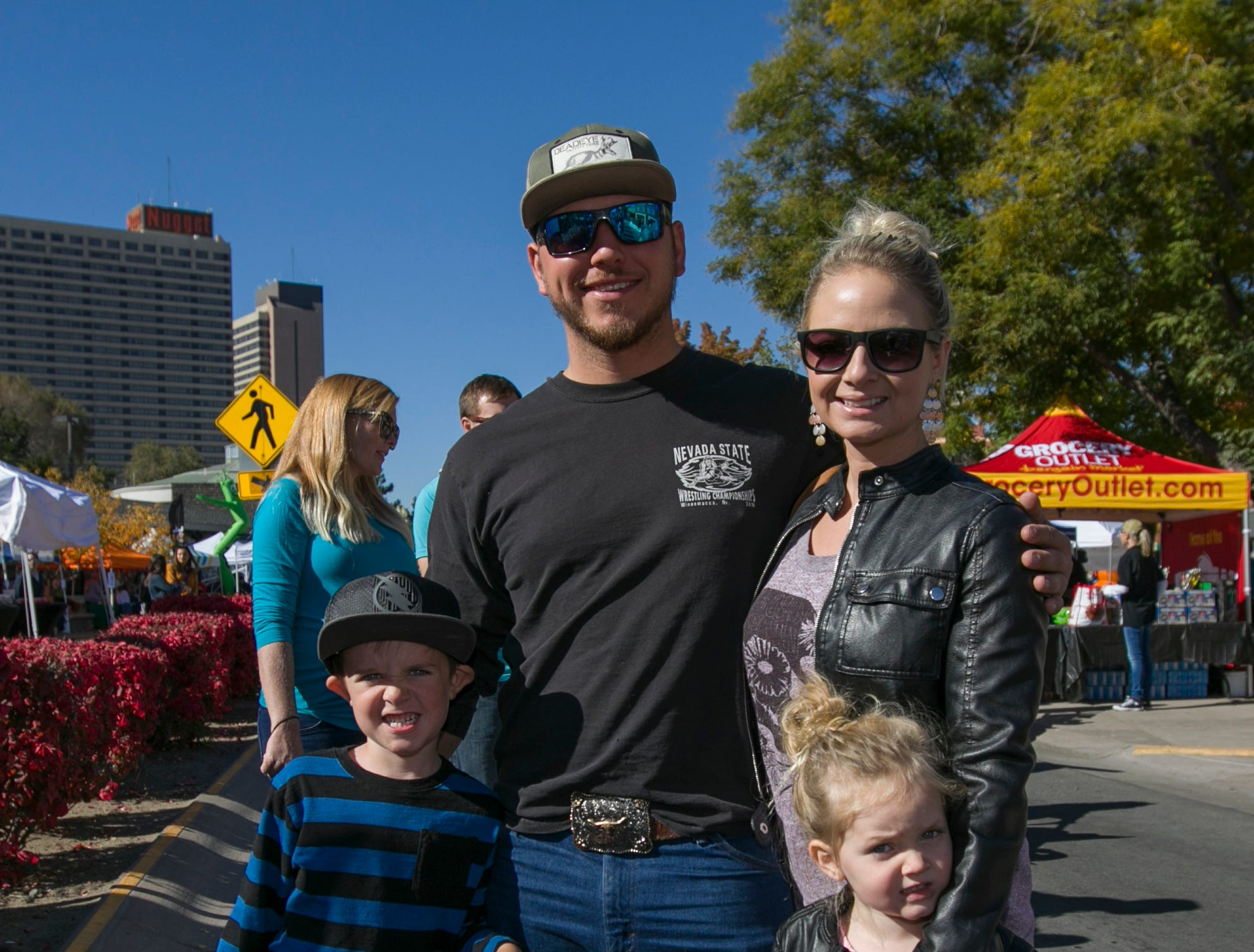 The Morby and Morton family during Pumpkin Palooza on Sunday Oct. 21, 2018 in Sparks, Nevada.