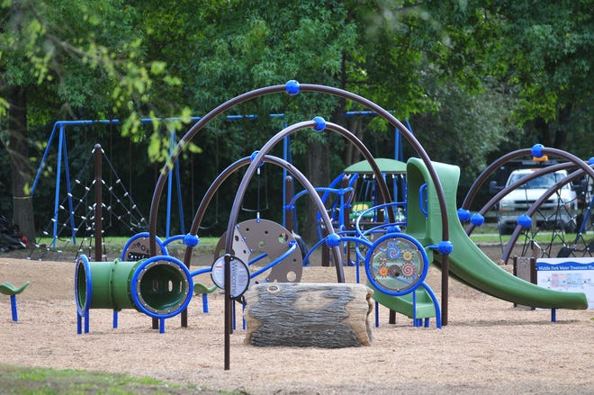 The new playground equipment at Middlefork Reservoir is just about ready for kids.