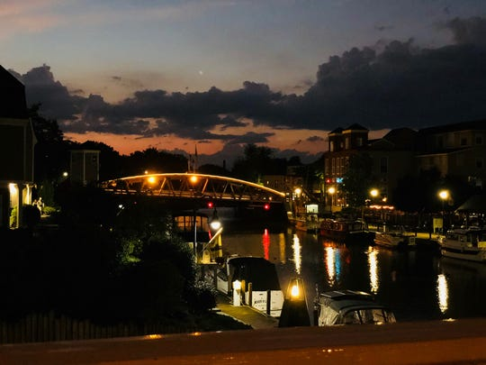 Porterhouse Steak, Scotch and Seafood  overlooks the Erie Canal and the Fairport Lift Bridge.