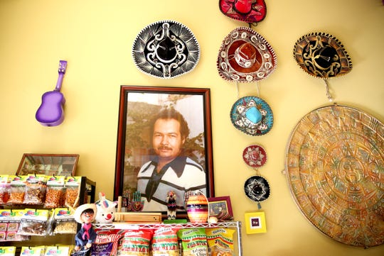 Don Froylan cheese, is named after owner Francisco Ochoa's father who started the family's cheese business. The store also offers a multitude of Mexican candies and chips. The wall with a photo of Froylan is pictured at Ochoa's Queseria on Thursday, Oct. 18 in Albany.