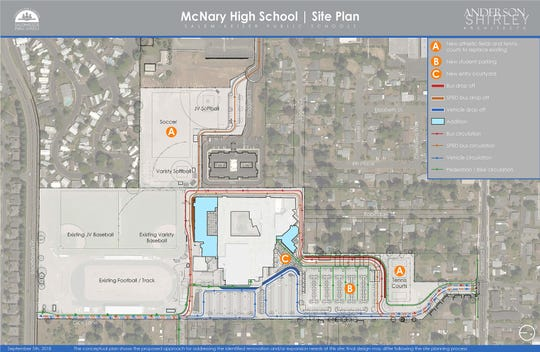 Salem-Keizer Public Schools wants to acquire about 6 acres of St. Edward's Catholic Church's land in Keizer to implement a new design for McNary High School.