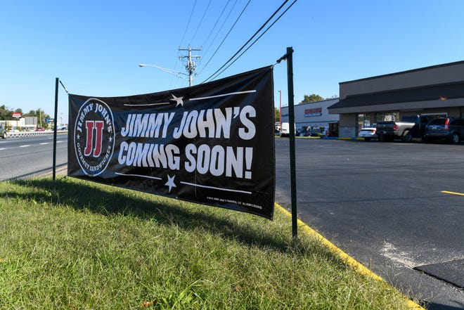 A new Jimmy Johns, a franchise sandwich shop, is coming to North Salisbury Boulevard, with signs advertising the opening on Monday, Oct 22, 2018.