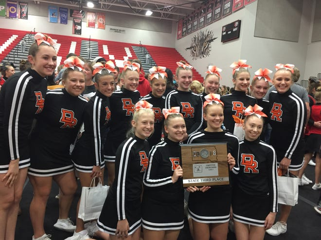 Dell Rapids finished third in the Class A Competitive Cheer state event on Oct. 19.