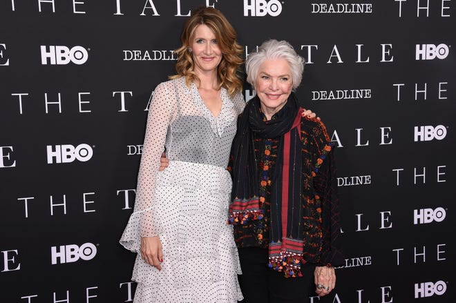 """Laura Dern, left, and Ellen Burstyn attend HBO's """"The Tale"""" FYC Event at the Landmark Theatre on Sunday, May 20, 2018, in Los Angeles."""