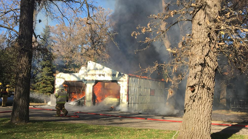 A shed and all its contents at 25806 Minnesota Highway 23 in Paynesville township burned the afternoon of Sunday, Oct. 21.