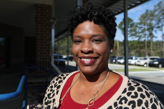 Principal Kerri Anderson at W.T. Moore Elementary School in Tallahassee, Fla. Monday, Oct. 22, 2018 as the school celebrates its 50th anniversary this week.