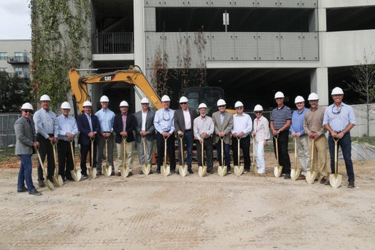 The development team breaks ground for Hotel Indigo which will be built at 826 Gaines Street in Collegetown in Tallahassee, Fla. Thursday, Oct. 22, 2018.