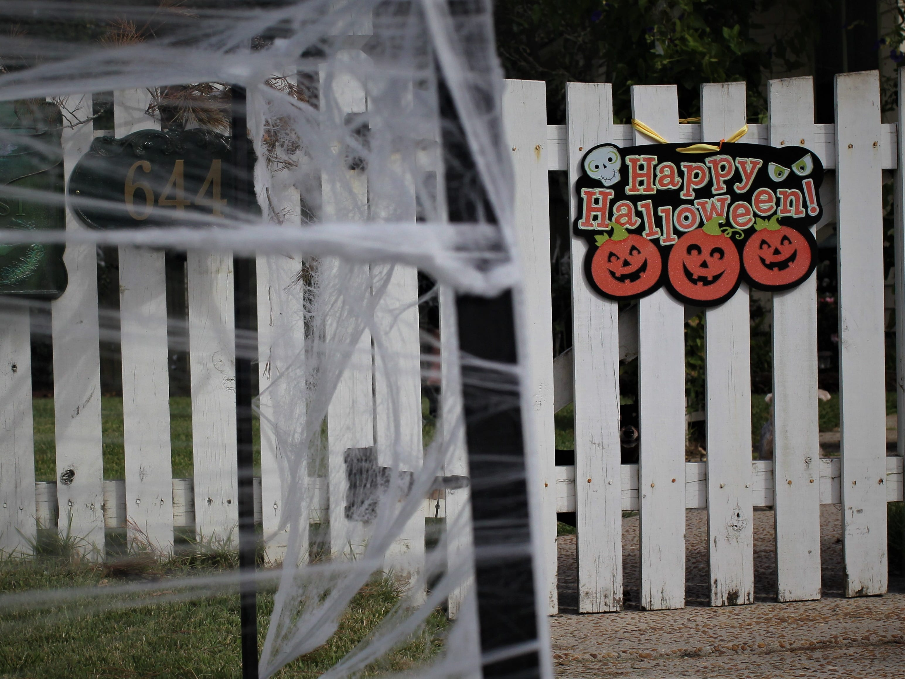 Houses along Beard Street and Ingleside Avenue in Tallahassee's Midtown neighborhood near Lafayette Park get prepared for Halloween. The holiday draws thousands of children for trick-or-treating.