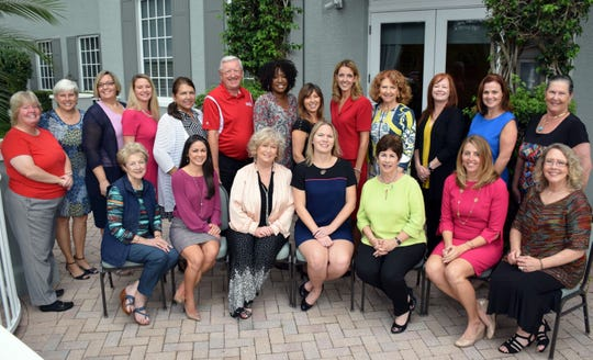 Some of the National Philanthropy Day Committee members are, front row, from left: Ann Marie McCrystal, Kelley Williams, Jamie Jackson, Tracey Segal, Carol Kanarek, event co-chairs Jessica Schmitt and Beverly Smith. Second row: Mary Silva, Maureen Nicolace, Michele Peters, Samantha Ramlall, Judith Lemoncelli, Marty Zickert, Eve Kyomya, Association of Fundraising Professionals President Monique Olson, Julia Keenan, Kerry Bartlett, Robyn Orzel, Shannon McGuire Bowman and Peggy Gibbs.