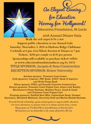"""Hooray for Hollywood"" is the theme for this year's Evening for Education, a celebration of the successes in the St. Lucie Public Schools."