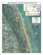 Beach cleanup area for Oct. 22, 2018
