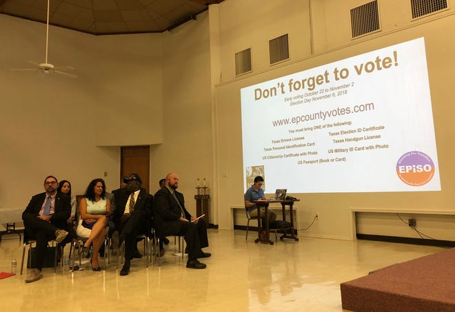 Ten of the candidates vying for seats on El Paso City Council and County Commissioners Court answered questions about immigration, infrastructure, and other topics at an accountability session Sunday held by EPISO and Border Interfaith.
