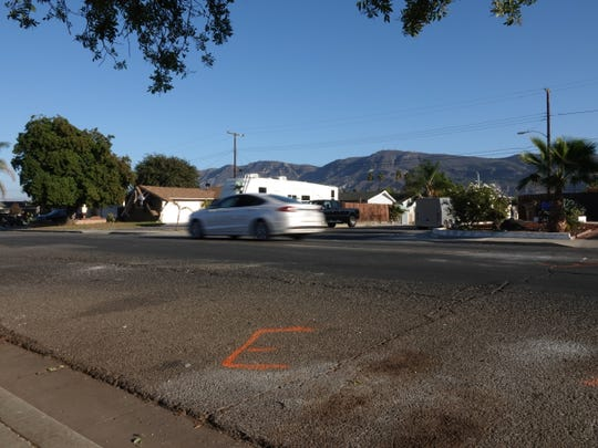 The intersection of Santa Paula Street and Bradley Street in Santa Paula, where a fatal vehicle crash occurred Saturday night.