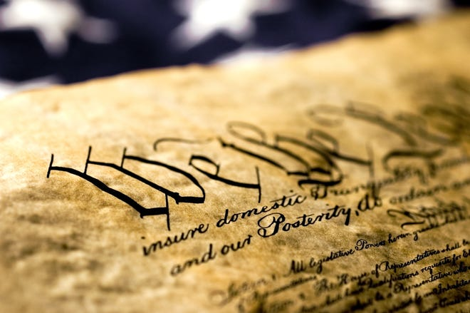 Closeup of the U.S. Constitution