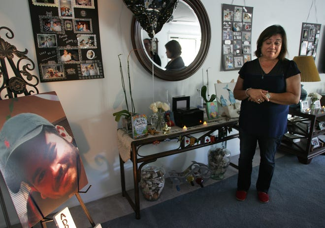 "Connie Hough discusses the death of her son, Adrian ""Mikey"" Ornelas, 26. He was killed May 20 in Oxnard near Bard Road and Anchorage Street."