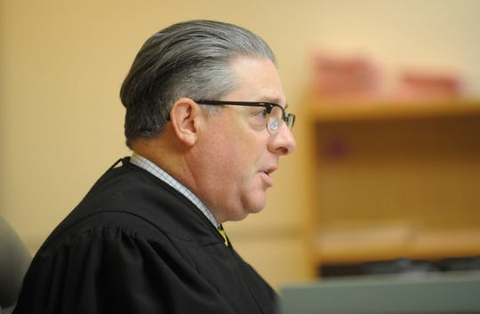 Judge Joseph Chiarello preceded at a hearing for Isaias Garza in Cumberland County Superior Court in Bridgeton. Garza was ordered released from jail on Monday, October 22, 2018.
