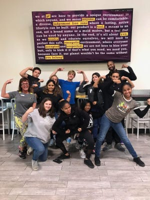 Teen members from the Boys & Girls Club of Vineland visited Planet Fitness. They enjoyed touring the fitness areas and participated in an exercise session with staff members.
