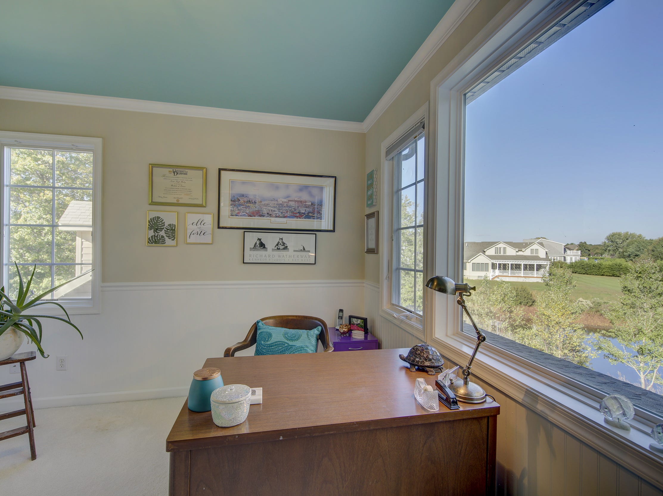 The office at 204 Lakeview Shores in Rehoboth Beach has a view of the pond.
