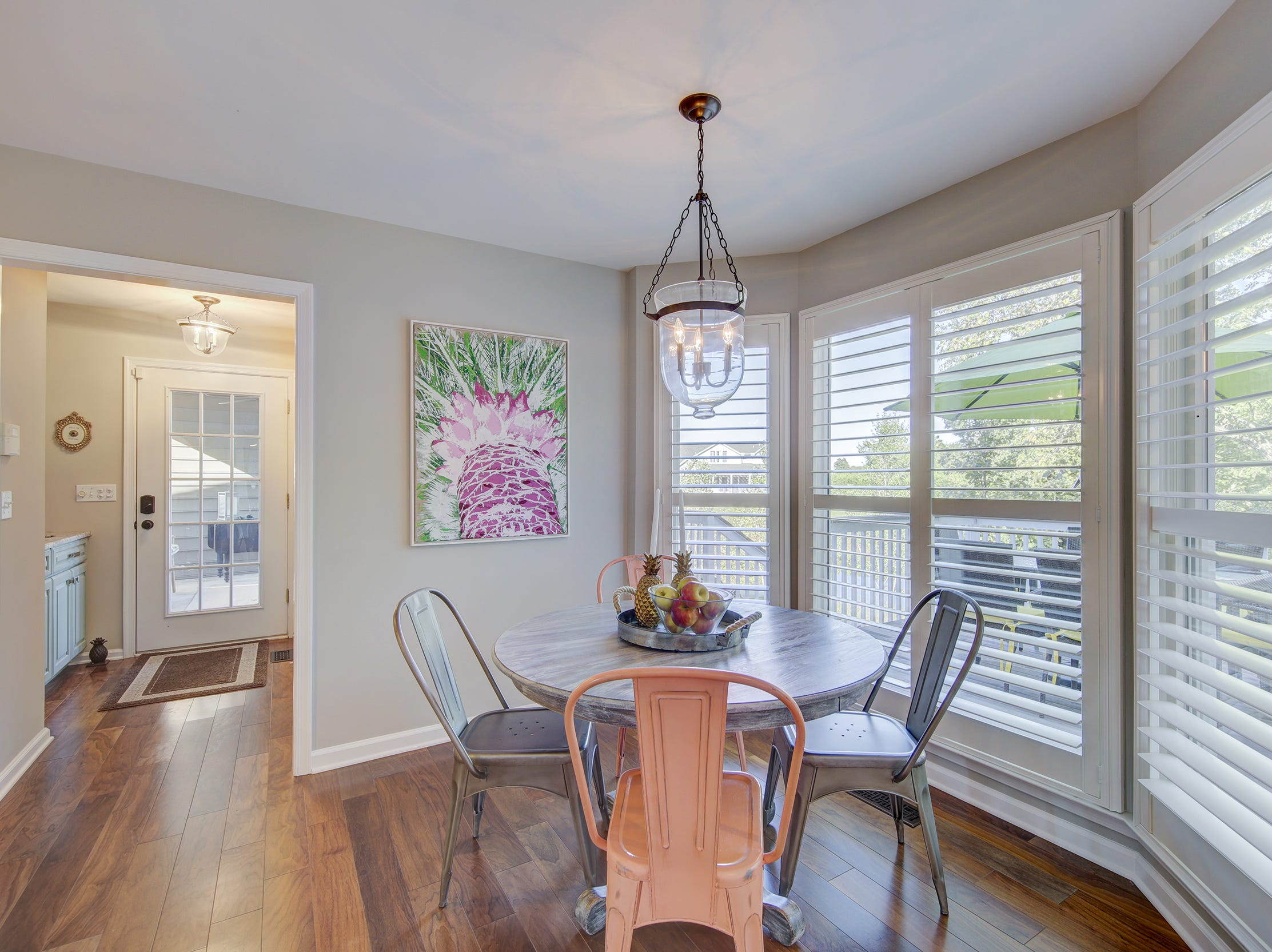 There's a breakfast nook off the kitchen at 204 Lakeview Shores for informal dining.