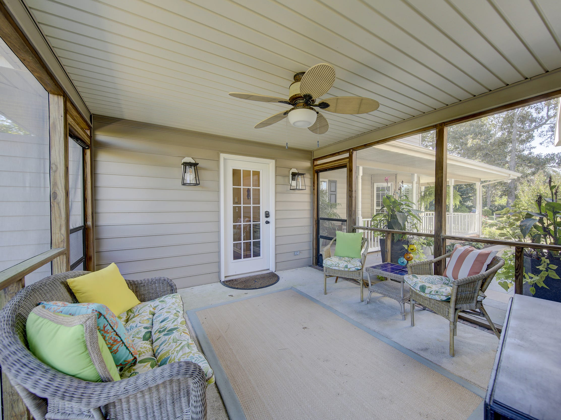 The house at 204 Lakeview Shores in Rehoboth Beach features a screened porch.