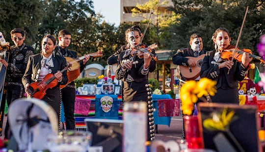 LOS MUERTOS: A CELEBRATION OF LIFE: 5 to 10 p.m. Nov. 2. Downtown Travis St. between 8th and 9th  St. $5.