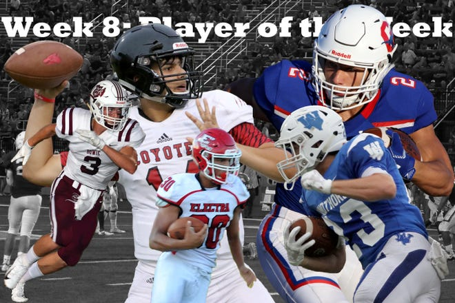 Nominees for the Week 8 Player of the Week are Anthony Vargas, Nathan Bales, Chase Gilmore, Jailen Dixon, and Joey Crawford.